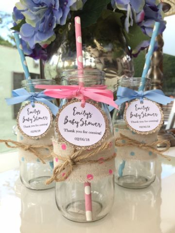Personalised Baby Shower Milk Bottles